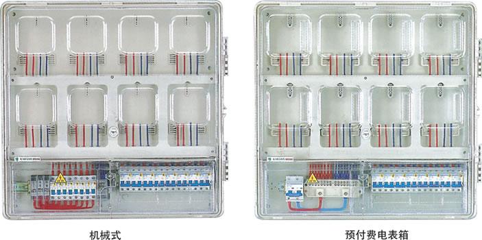 单相八位机械式预付费电表箱(上下结构)