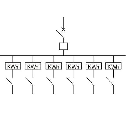 单相六位机械式预付费电表箱(上下结构)