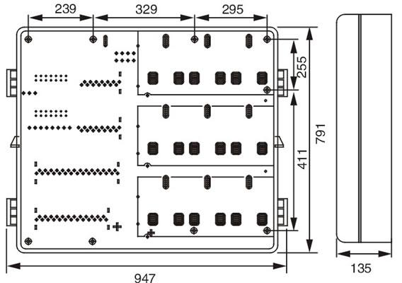 单相九位机械式预付费电表箱(左右结构)